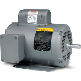 Baldor Motor L1405T, 2HP, 1725RPM, 1PH, 60HZ, 182T, 3628L, OPEN, F1