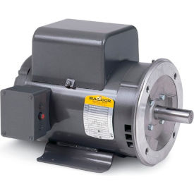 Baldor Motor PCL1317M, 2HP, 3450RPM, 1PH, 60HZ, 56C, 3524LC, OPEN, F1