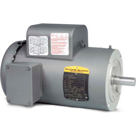 Baldor single phase motor vl3514 1 5 hp 115 230 volts for Baldor 1 5 hp single phase motor