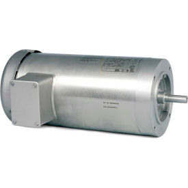 Baldor-Reliance Washdown Motor VSSEFWDM3546, 3 Phase, 1 HP, 1800 RPM, 208-230/460 Volts, TEFC,56C FR