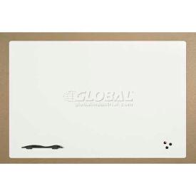 "Balt® Elemental™ Markerboard - Porcelain Steel Surface - 48""W x 36""H Glossy White"