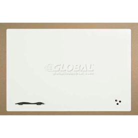 "Balt® Self Adhesive Porcelain Steel Dry Erase Surface - 96""W x 48""H Glossy White"