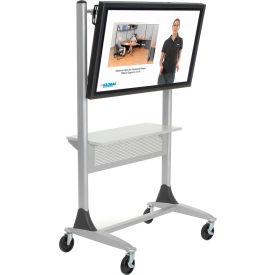 Balt® Platinum Series Two-post Large LCD/Plasma Monitor Cart with Shelf
