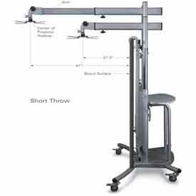 iTeach Cart with Short Throw Arm