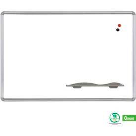 "Balt® Porcelain Steel Markerboard with Presidential Trim Board 48""W x 36""H"