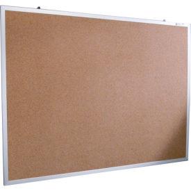 """Balt® Natural Cork Tackboard - Aluminum Trim - 60""""W x 48""""H"""