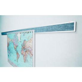"""Balt® Tackboard Display Rails - 120""""W x 3""""H"""