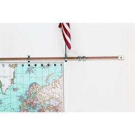 "Balt® Map Rails - Set of 6 - 48""W x 1""H"