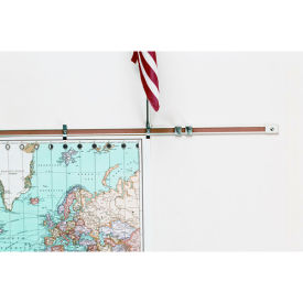 "Balt® Map Rails - Set of 6 - 96""W x 1""H"