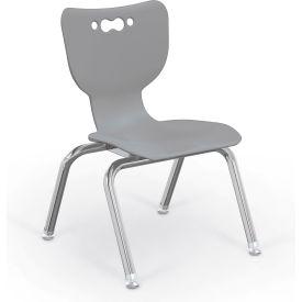 "Balt® Hierarchy 12"" Plastic Classroom Chair - Set of 5 - Gray"