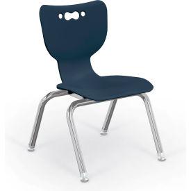 "Balt® Hierarchy 12"" Plastic Classroom Chair - Set of 5 - Navy"