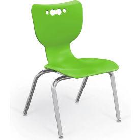 "Balt® Hierarchy 14"" Plastic Classroom Chair - Set of 5 - Green"