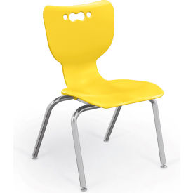"""Balt® Hierarchy 14"""" Plastic Classroom Chair - Set of 5 - Yellow"""