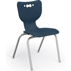 "Balt® Hierarchy 18"" Plastic Classroom Chair - Set of 5 - Navy"