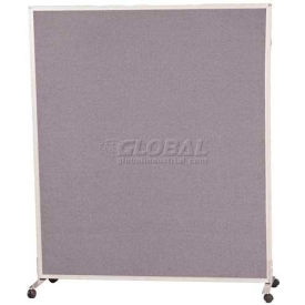 Standard Modular Office Partition Panel 6'H X 4'W Gray Fabric