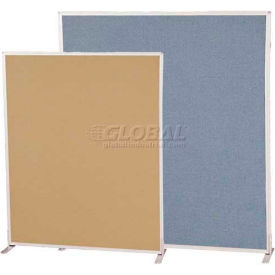 Standard Modular Office Partition Panel 6'H X 5'W Blue Fabric