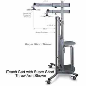 "iTeach Super Short Throw Projector Arm 16"" To 29"""