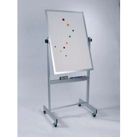 "Balt® Deluxe Reversible Board, Porcelain Markerboard & Natural Cork, Aluminum Trim, 30""W x 48""H"