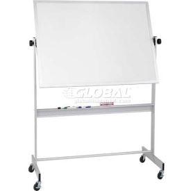 "Balt® Deluxe Reversible 60""W x 48""H Porcelain Steel/Cork Board Aluminum Trim"