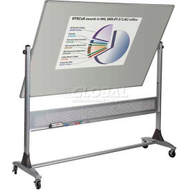 Platinum Reversible 4'H x 6'W Double Sided Projection Plus Markerboard