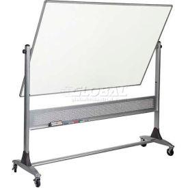 "Balt® Platinum Reversible 96""W x 48""H Porcelain Steel/Cork Board"