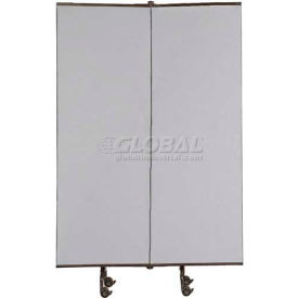 Great Divide Portable Room Divider Add-On Panel 6'H, Gray Fabric