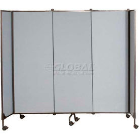 Great Divide Portable Room Divider Starter Panel 8'H, Gray Fabric