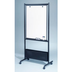 "Balt® Nest Easel - Black Steel Frame with Porcelain Markerboard, 32""W x 72""H"