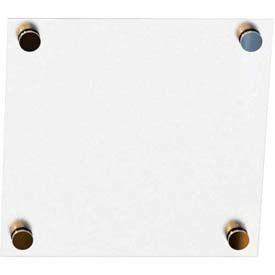 "Balt® Enlighten White Non-Magnetic Glass Dry Erase Board 12""W x 12""H"