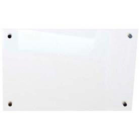 "Balt® Enlighten Frosted Pearl Non-Magnetic Glass Dry Erase Board 24""W x 18""H"