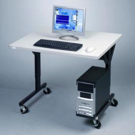 """Balt® 89847 Brawny Mobile Table, 25-1/2""""- 33-1/2""""H x 36""""W x 30""""D, Gray"""