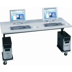 """Balt® 89848 Brawny Mobile Table, 25-1/2""""- 33-1/2""""H x 60""""W x 30""""D, Gray"""
