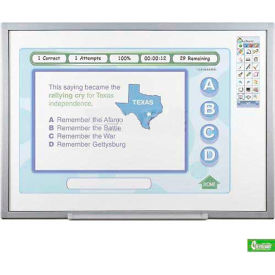 OneBoard™ Interactive Smart Board -  Porcelain Steel Surface - Quad User with Wireless