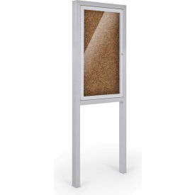 """Balt® All-Weather Herald Outdoor Enclosed Cabinet with Posts - Single Door - 36""""W x 48""""H Tan"""