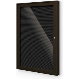 "Balt® Outdoor Enclosed Letter Board Cabinet with 1 Hinged Door 24""W x 36""H Coffee"
