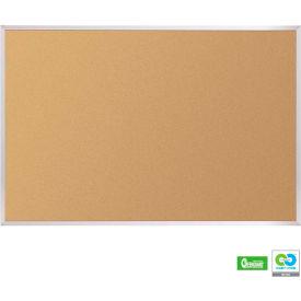 """Balt® VT Logic Cork Board - Aluminum Trim, 120""""W x 48""""H"""