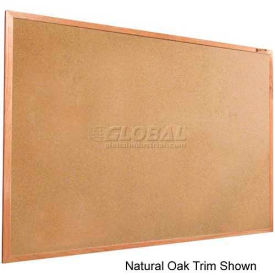 "Balt® Valu-Tak Tackboard with Mahogany Wood Trim 96""W x 48""H"