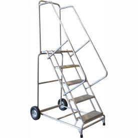 "6 Step 24""W Aluminum Wheelbarrow Ladder - Ribbed Tread"