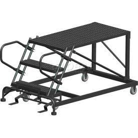 "4 Step Heavy Duty Steel Mobile Work Platform - 24"" x 48"" Platform"