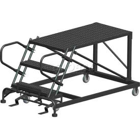 "4 Step Heavy Duty Steel Mobile Work Platform - 36"" x 48"" Platform"
