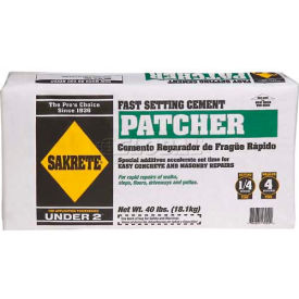 Sakrete® Fast Set Cement Patcher, 40 Lb. Bag - 60200640 - Pkg Qty 36