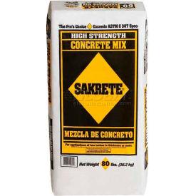Sakrete® High Strength Concrete Mix, 80 Lb. Bag - 65200390 - Pkg Qty 42