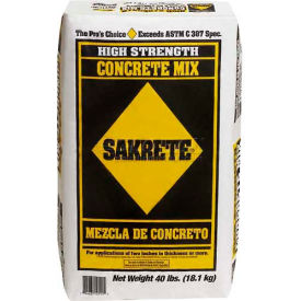 Sakrete® High Strength Concrete Mix, 40 Lb. Bag - 65201030 - Pkg Qty 80