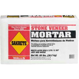 Sakrete® Stone Veneer Mortar, 80 Lb. Bag - 65303105 - Pkg Qty 42