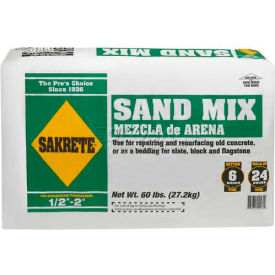 Sakrete® Sand Mix, 60 Lb. Bag - 65306217 - Pkg Qty 56
