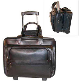 Stebco Leather Laptop Computer/Business Case on Wheels