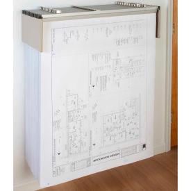 "Brookside Design Blueprint Drop Lift Wall Rack Bundle W/Dozen 24"" Clamps"