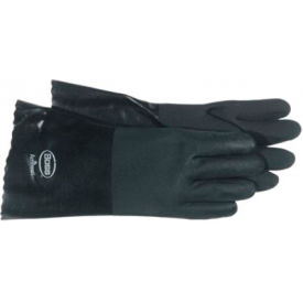 Jersey Lined Black Pvc Coated Gloves, Boss 1sp0712, 1-Pair - Pkg Qty 12