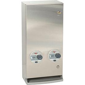 Bobrick® ClassicSeries™ 25 Cent Surface Mount Sanitary Vendor Sq. Edge - B-2706 25