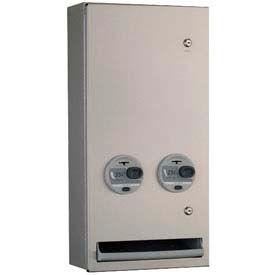 Bobrick® TrimLineSeries™ 25 Cent Surface Mounted Sanitary Vendor - B-370639 25